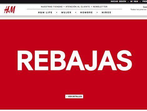 Página web de H&M en época de rebajas 2013