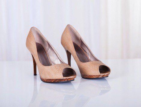 Zapato tipo 'Peep toe' en color nude
