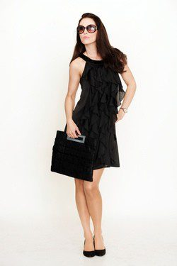 Vestido de falda midi