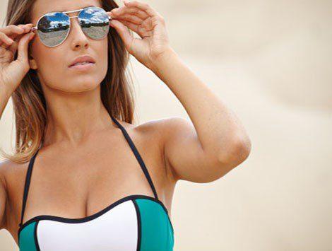 Gafas de sol efecto espejo modelo aviador