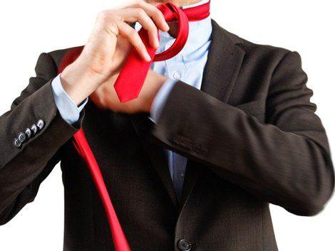 Elige corbatas largas para el medio windsor