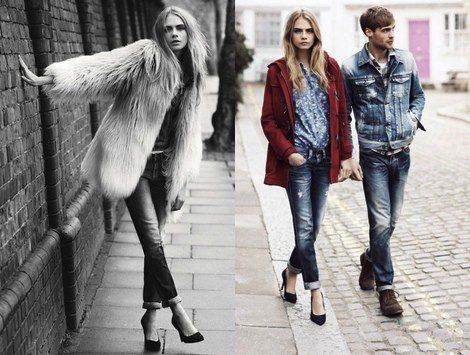7843d6e68d336 Imágenes de la campaña otoño invierno 2013 de Pepe Jeans con Cara Delevingne