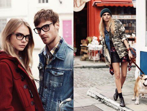 Cara Delevingne para Pepe Jeans en la campaña otoño/invierno 2013