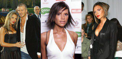 Victoria Beckham con diferentes looks