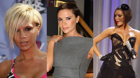 Victoria Beckham con el pelo corto y diferentes looks