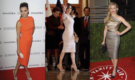 Eva Longoria, J.Lo y Cameron Diaz con vestidos de Victoria Beckham