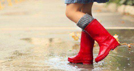 Las botas de agua también sirvan para un día de nieve