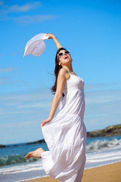 Vestidos blancos para el verano
