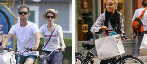 Muchas celebrities usan la bici