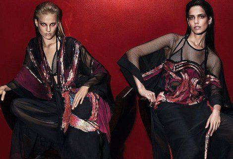 Amanda Wells y Elisabeth Erm posan para la campaña PV2014 de Gucci