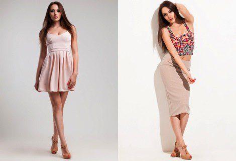 Modelos de vestidos cortos para flacas