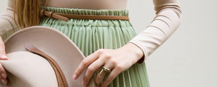 Las faldas plisadas ayudan a equilibrar tu silueta