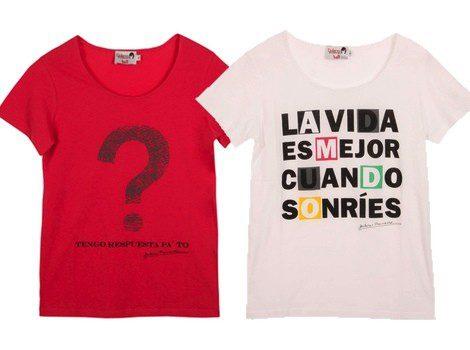 Camisetas 'tengo respuesta pa to' y 'la vida es mejor cuando sonríes'