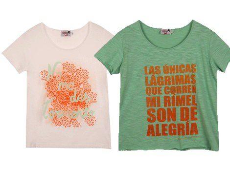 Camisetas 'no me des tormento' y 'las únicas lágrimas que corren mi rímel son de alegría'