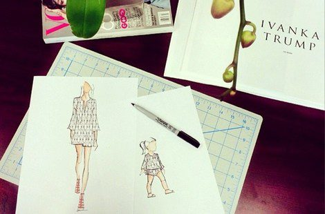 Bocetos de Ivanka Trump de su línea de ropa para Shopbop