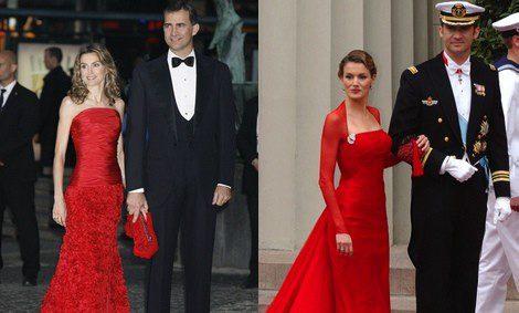 Doña Letizia elige el color rojo para distintos eventos
