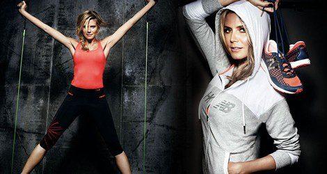 Heidi Klum colabora de nuevo con la firma deportiva New Balance