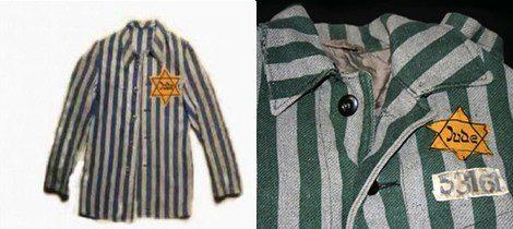 El uniforme que vestían los judíos en los campos de concentración