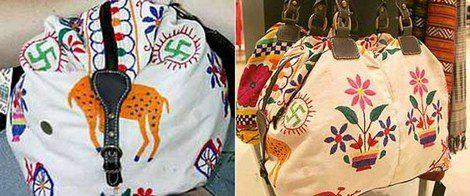 El bolso con esvásticas bordadas de Zara