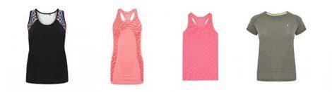 Camisetas de la colección 'Workout' de Primark