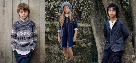 Gris y azul marino, las claves de Zara Kids para otoño/invierno 2014 - 2015