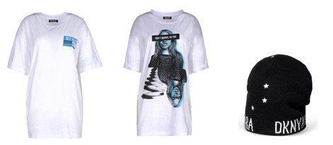 Camisetas y gorro diseñados por Cara Delevingne para DKNY