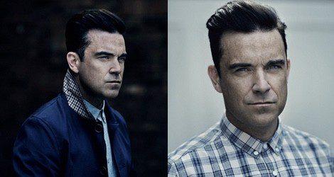 Robbie Williams posa con su propia firma 'Farrell', disponible en las tiendas Primark