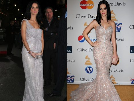 Estilismo de Katy Perry sobre la 'red carpet'