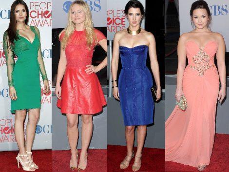 Miley Cyrus, Demi Lovato y Lea Michele destacan entre las mejor vestidas de los People's Choice Awards
