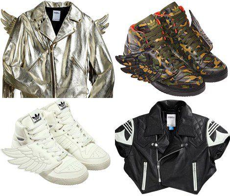Cazadoras y zapatillas de la colección de Jeremy Scott para Adidas