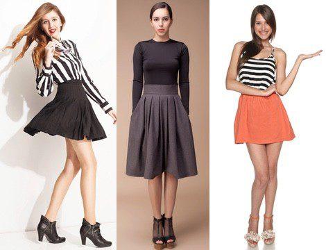 La falda es una prenda muy versátil que te permitirá ir arreglada pero informal