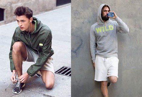 Looks masculinos en color verde y blanco de la nueva colección de deporte de la firma Springfield