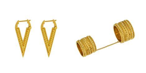Pendientes y anillo de la colección 'Saywite' de Aristocrazy