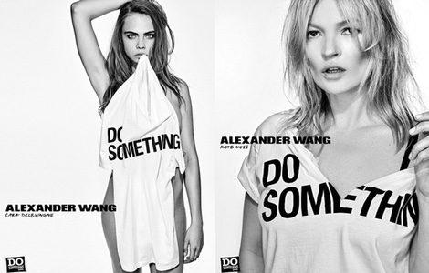Las modelos Cara Delevingne y Kate Moss en la campaña de Alexander Wang para Do Something