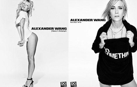 Las actrices Pamela Anderson y Kristen Wiig en la campaña de Alexander Wang para Do Something