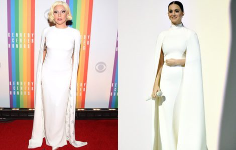Lady Gaga y Katy Perry con el mismo vestido de Valentino