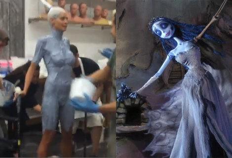 Con ese color de piel Heidi Klum podría dar vida a 'la novia cadáver'