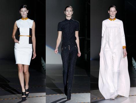 Bicolor geométrico y print animal en la 'pasarela-escenario' de Davidelfin en la Fashion Week Madrid