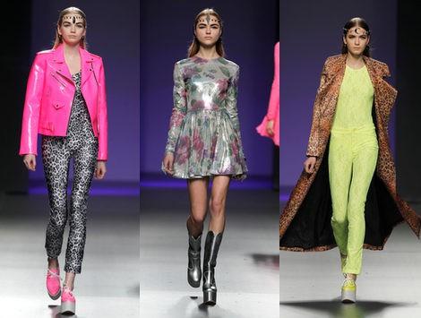María Escoté sube un mix de flúor y print animal sobre la Fashion Week Madrid