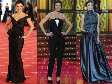 Los seis cambios de look de Eva Hache durante la gala de los Premio Goya 2012