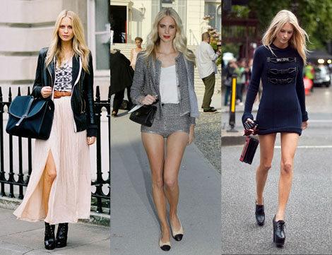 Algunos ejemplos de sus estilismos de día