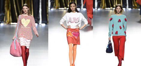 Colores y corazones marcan la tendencia de Ágatha Ruiz de la Prada