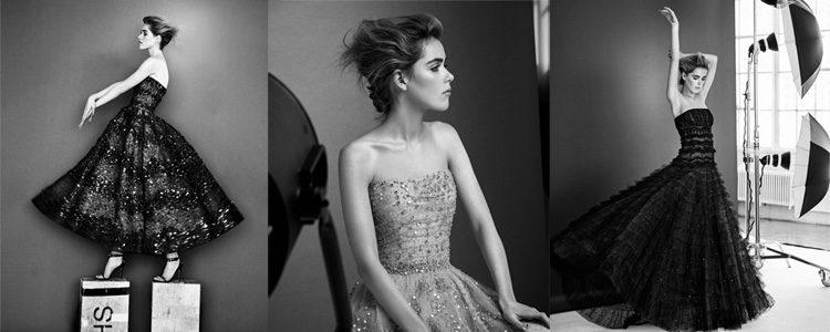 Kiernan Shipka posa con vestidos de la colección 'Resort 2017' de Carolina Herrera