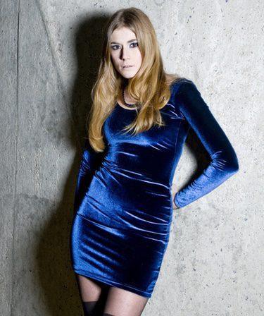 Vestido de terciopelo