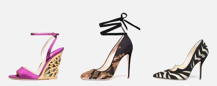 Zapatos de tacón diseñados por Paul Andrew para su propia firma