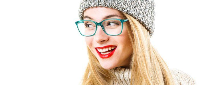 Las gafas con grandes cristales son ideales para la forma alargada