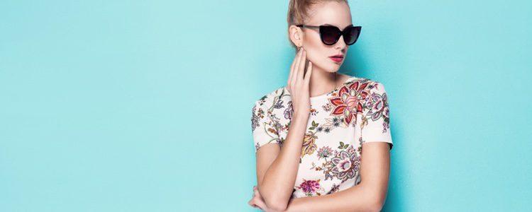 El estampado floral vintage es tendencia