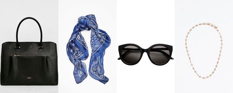 Complementos del look navy de Alessandra Ambrosio