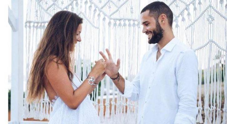 Malena Costa se casa con el futbolista Mario Suárez