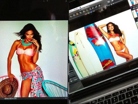 Primeras imágenes de Irina Sahyk y Adam Senn para Blanco 'Summer 2012'